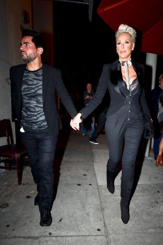 BRIGITTE NIELSEN and Mattia Dessi at Craig