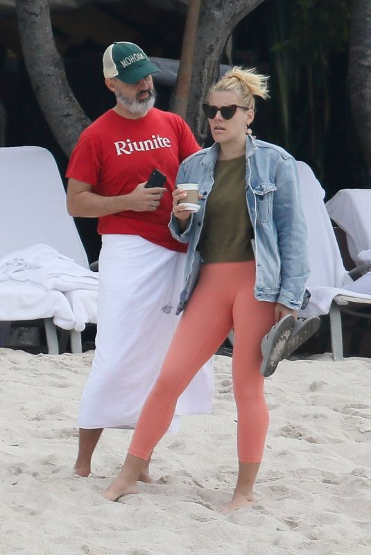 BUSY PHILIPPS at a Beach in Mexico 12/31/2018