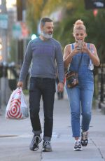 BUSY PHILIPPS in Denim Overalls Out in West Hollywood 01/28/2019