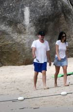 CAMILA MORRONE and Leonardo Dicaprio at a Beach in Phuket 12/30/2018