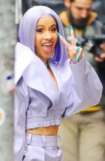 CARDI B Arrives at Rhythm & Flow in New York 01/08/2019