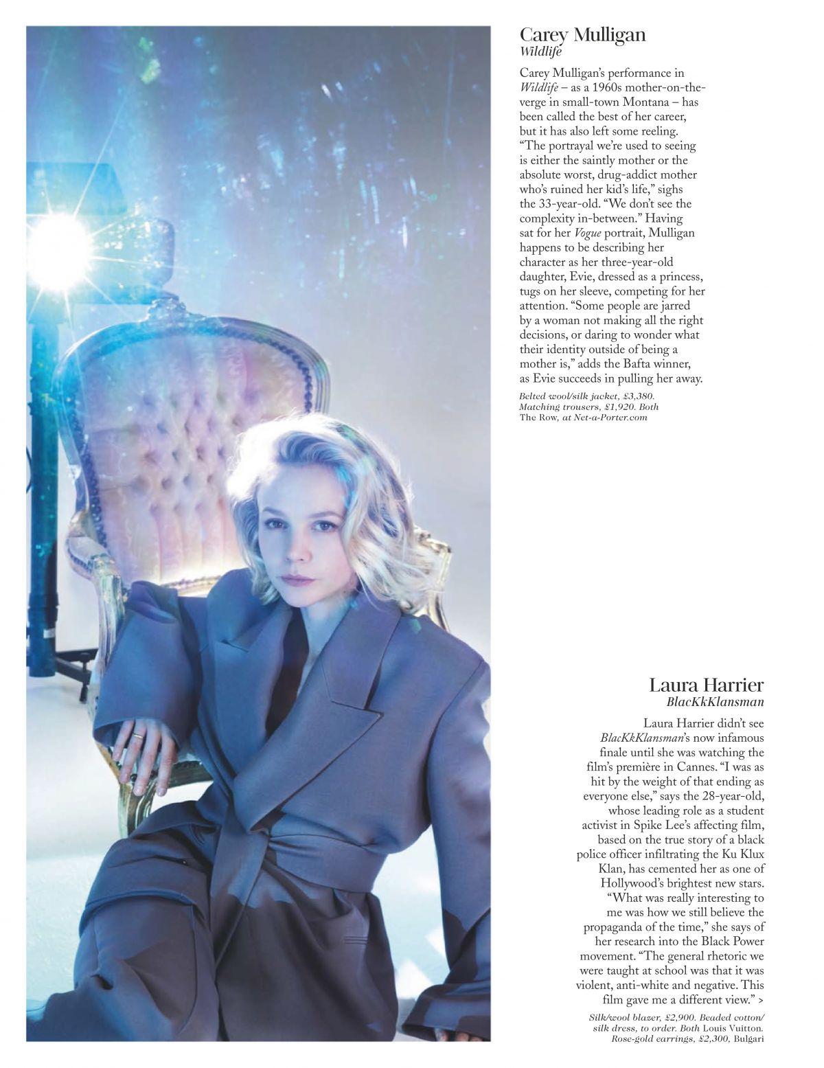 CAREY MULLIGAN in Vogue Magazine, UK February 2019 – HawtCelebs