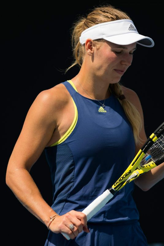 CAROLINE WOZNIACKI at 2019 Australian Open Practice Session at Melbourne Park 01/12/2019