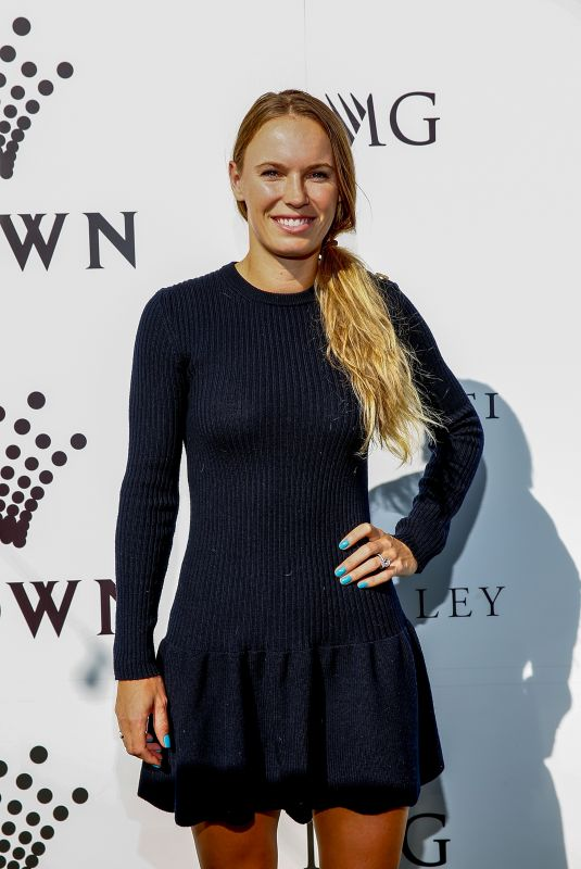 CAROLINE WOZNIACKI at Crown Img Tennis Party in Melbourne 01/13/2019