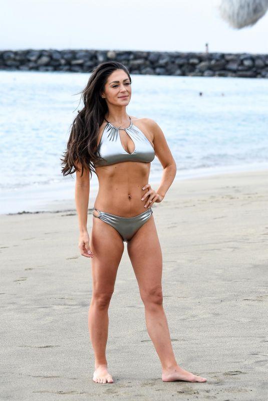 CASEY BATCHELOR in a Silver Bikini at a Beach in Tenerife 01/07/2019
