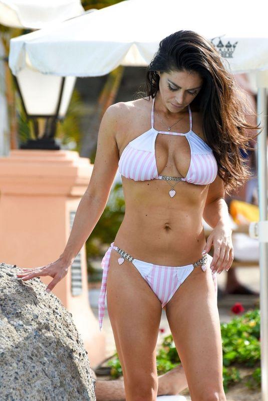 CASEY BATCHELOR in Bikini at a Pool in Dubai 01/22/2019