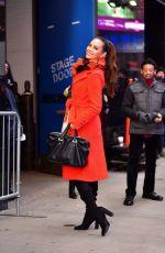 CATRIONA GRAY Leaves Good Morning America in New York 01/07/2019