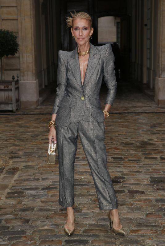 CELINE DION at Ronald van der Kemp Fashion Show in Paris 01/23/2019