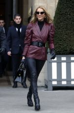CELINE DION Leaves Givenchy Office in Paris 01/24/2019