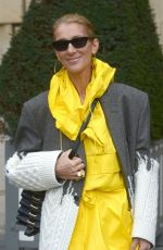 CELINE DION Out and About in Paris 01/29/2019