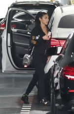 CHANTEL JEFFRIES Take Her Mercedes-benz to a Service in Beverly Hills 01/22/2019