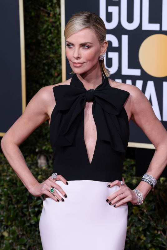 CHARLIZE THERON at 2019 Golden Globe Awards in Beverly Hills 01/06/2019