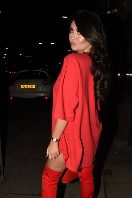CHARLOTTE DAWSON Leaves Hair Choice in Liverpool 12/01/2018