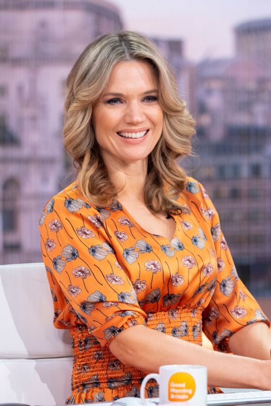CHARLOTTE HAWKINS at Good Morning Britain Show in London 01/22/2019