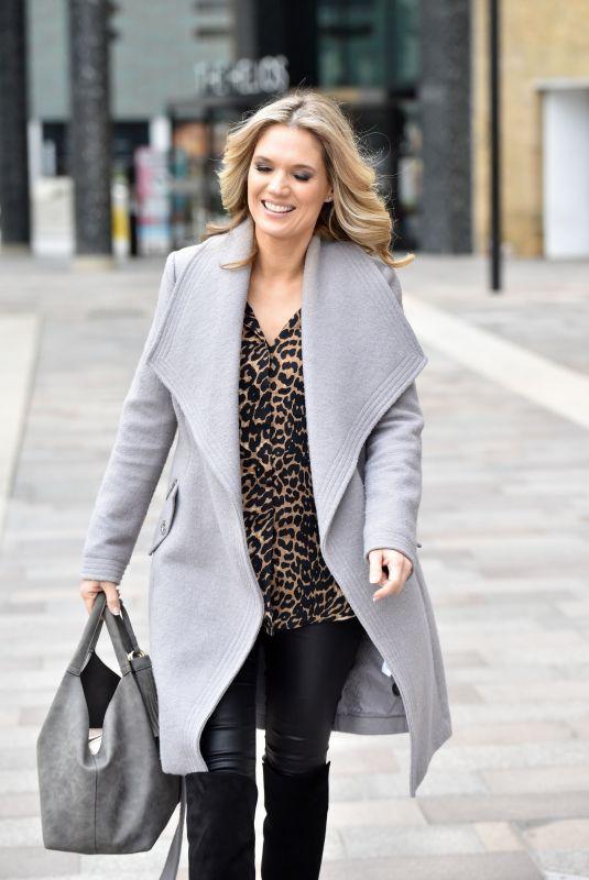 CHARLOTTE HAWKINS Leaves Soho House in London 01/15/2019