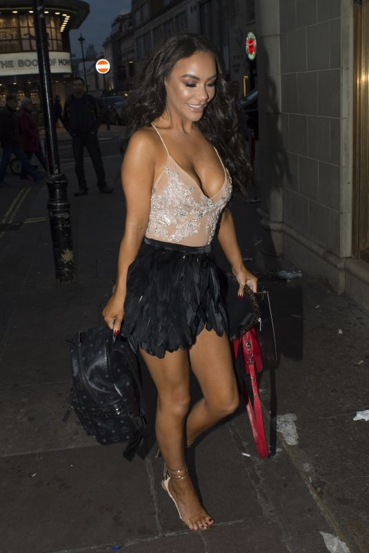 CHELSEE HEALEY at Opium Nightclub on the Set of Celebs go Dating in London 01/14/2019