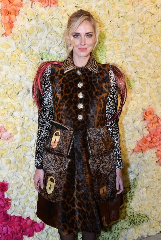 CHIARA FERRAGNI at Schiaparelli Haute Couture Fashion Show in Paris 01/21/2019