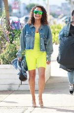 CHRIOSTINA MILIAN Out Shopping at Lole in Los Angeles 01/30/2019