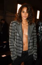 CINDY BRUNA at Balmain Fashion Show in Paris 01/19/2018