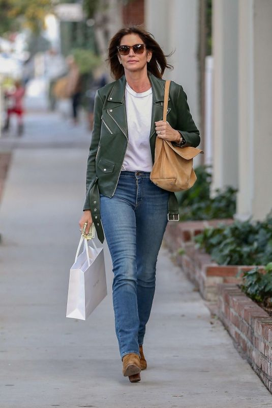 CINDY CRAWFORD Out Shopping in West Hollywood 01/11/2019