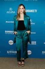 CLARA RUGAARD at I Am Mother Premiere at Sundance Film Festival 01/25/2019