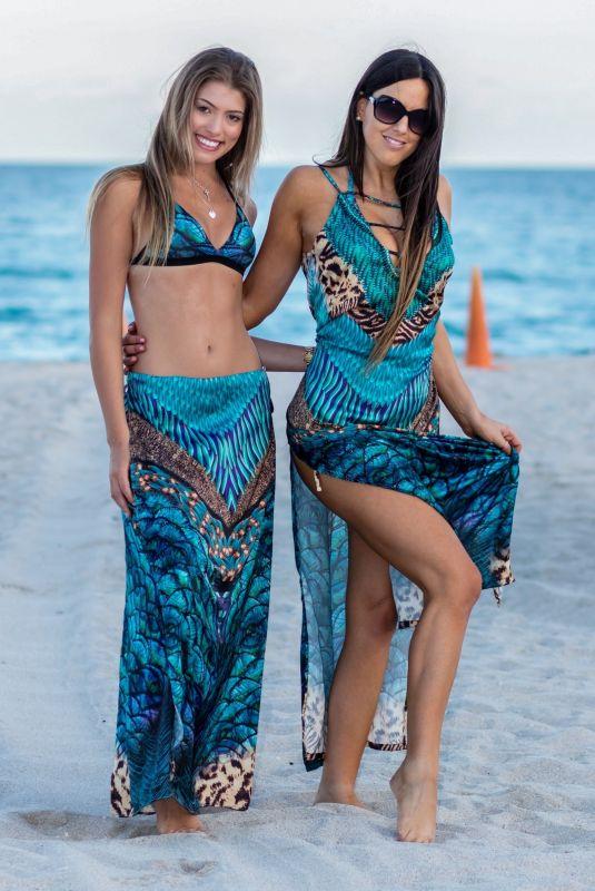 CLAUDIA ROMANI and ANNA MARTINEZ in Bikinis at a Beach in Miami 01/29/2019