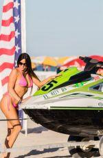 CLAUDIA ROMANI at a Beach in South Beach 01/20/2019