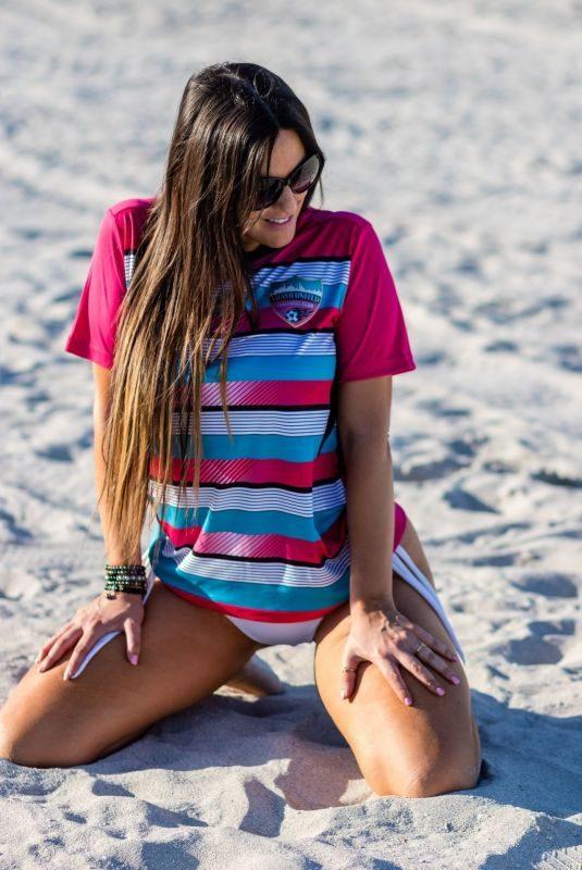 CLAUDIA ROMANI in Bikini Bottom on the Beach in South Beach 01/15/2019