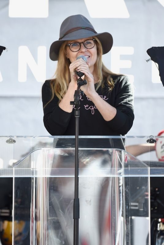 CONNIE BRITTON at Women's March in Los Angeles 01/19/2019