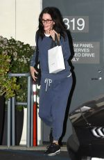 COURTENEY COX Out Shopping to Celine in Los Angeles 01/10/2019