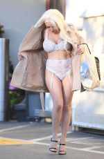 COURTNEY STODDEN Out Shopping in West Hollywood 01/25/2019