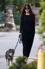 DAKOTA JOHNSON Out with Her Dog in Malibu 01/27/2019