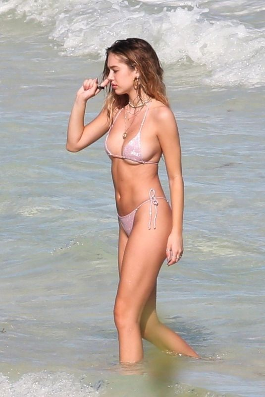 DELILAH HAMLIN in Bikini on the Beach in Tulum 01/12/2019