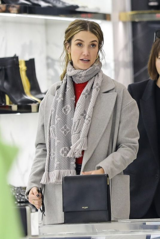 DELTA GOODREM Shopping at YSL on Rodeo Drive in Beverly Hills 01/12/2019