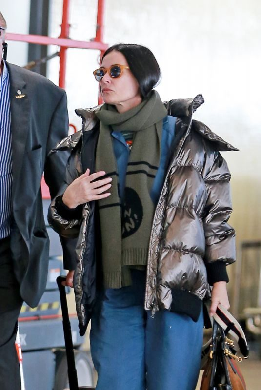 DEMI MOORE at Los Angeles Airport in Los Angeles 01/27/2019