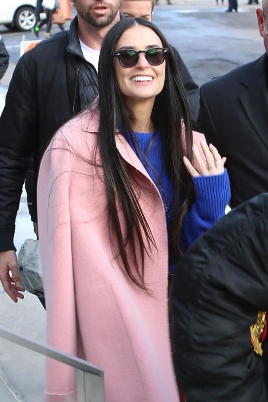 DEMI MOORE Out at Sundance Film Festival in Park City 01/28/2019