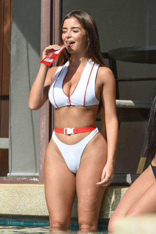 DEMI ROSE MAWBY in Bikini at a Pool in Phuket 01/24/2019