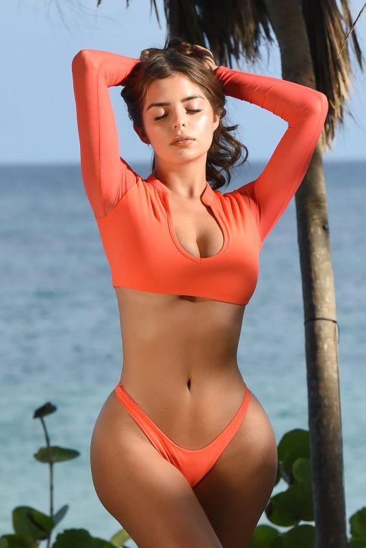 DEMI ROSE MAWBY in Bikini on the Set of a Photoshoot in Tulum, January 2019