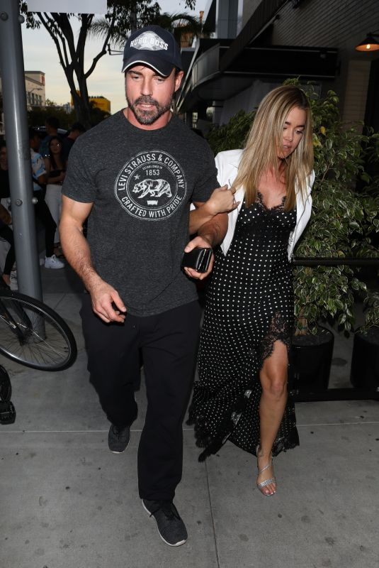 DENISE RICHARDS and Aaron Phypers at Andy Cohans Baby Shower in Los Angeles 01/26/2019