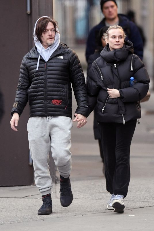 DIANE KRUGER and Norman Reedus Out in New York 01/16/2019