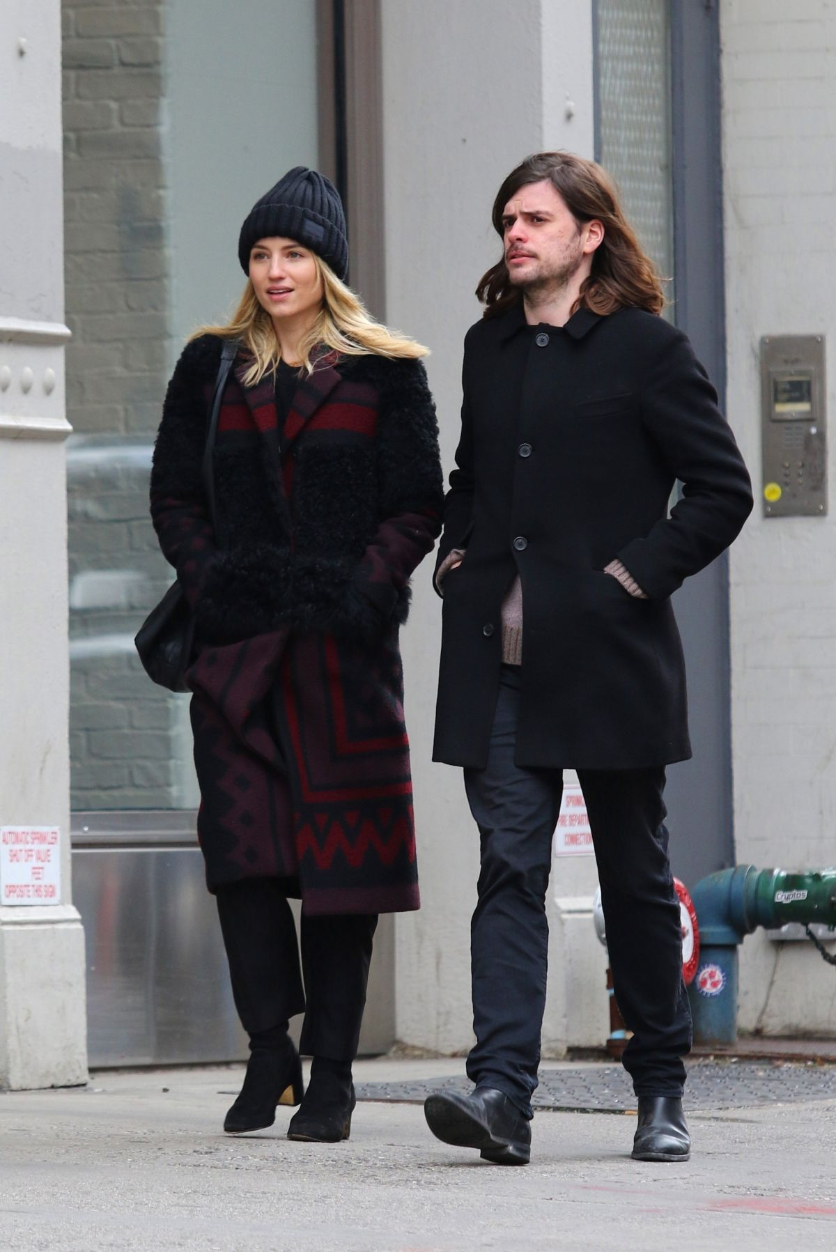 DIANNA AGRON and Winston Marshall Out in New York 01/09 ...