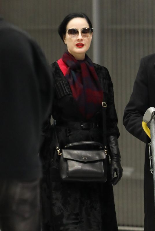 DITA VON TEESE at Airport in Paris 01/20/2019