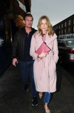 DONNA AIR and Ben Carrington Leaves Scalini Restaurant in London 01/26/2019