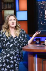 DREW BARRYMORE at Late Show with Stephen Colbert 01/22/2019