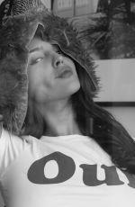 EIZA GONZALEZ on the Set of a B/W Photoshoot, March 2018