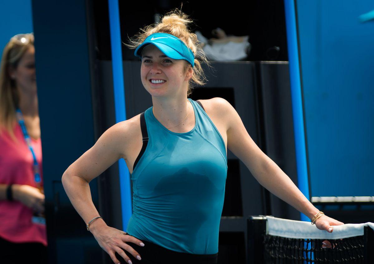 ELINA SVITOLINA at 2019 Australian Open Practice in ...