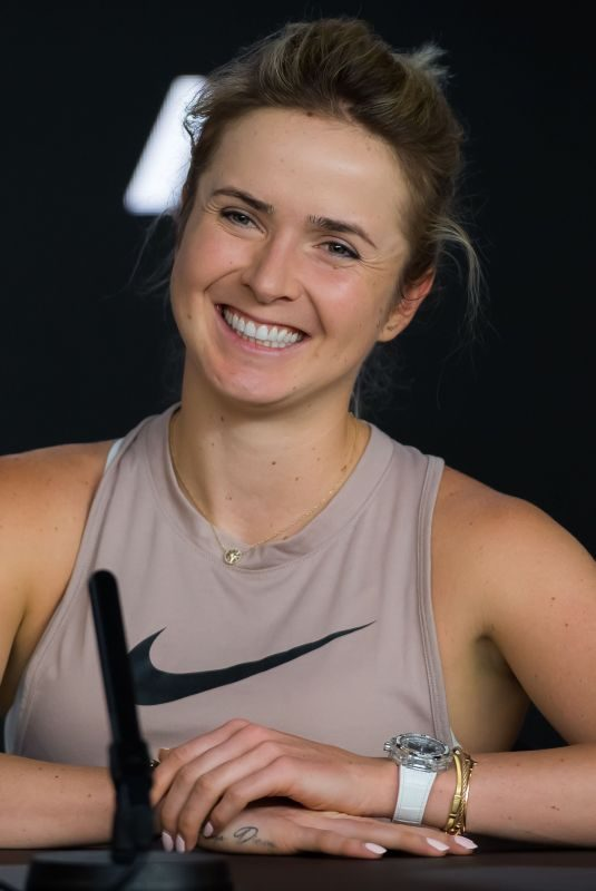 ELINA SVITOLINA at 2019 Australian Open Press Conference in Melbourne 01/19/2019