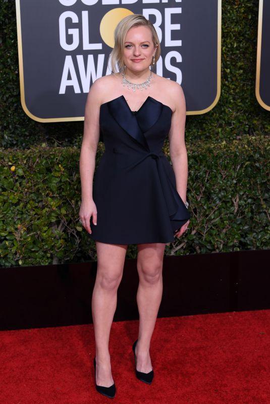 ELISABETH MOSS at 2019 Golden Globe Awards in Beverly Hills 01/06/2019