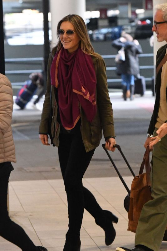 ELIZABETH HURLEY Arrives at Heathrow Airport in London 01/11/2019