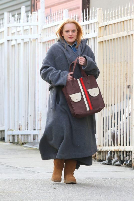 ELIZABETH MOSS on the Set of The Kitchen in New York 01/12/2019